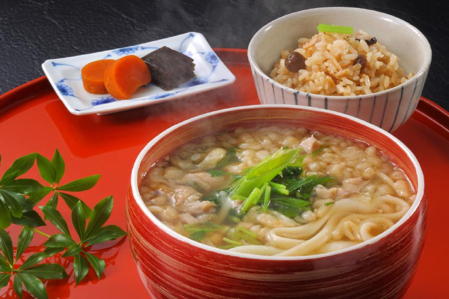 鶏なんばうどん(太麺)